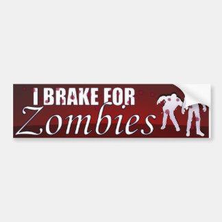 Ich bremse für Zombies Autoaufkleber