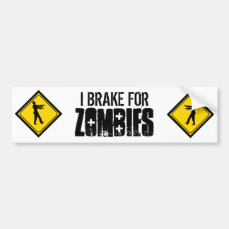 Ich bremse für Zombies Auto Sticker