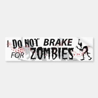 Ich bremse nicht für Zombies - Weiß Autoaufkleber
