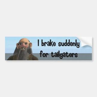 Ich bremse plötzlich für tailgaters autoaufkleber