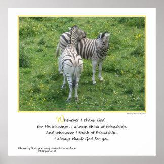 Ich danke Gott für Sie… Freundschaft Poster