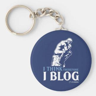 Ich denke, deshalb ich Blog Schlüsselanhänger