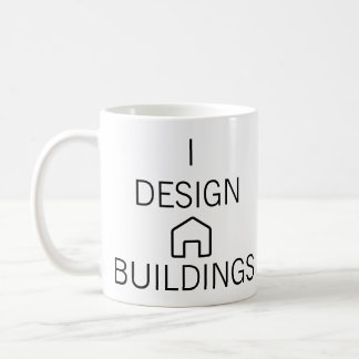 Ich entwerfe Gebäude-Tasse Kaffeetasse