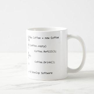 Ich entwickele Software Tasse