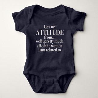 Ich erhalte meine Haltung von… Bodysuit Baby Strampler