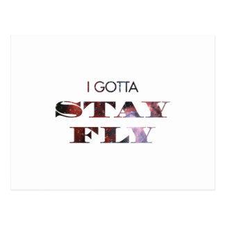Ich erhielt, Fliege zu bleiben Postkarte