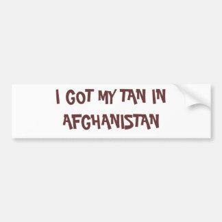 ICH ERHIELT MEINE SÄURENUMMER IN AFGHANISTAN AUTOAUFKLEBER