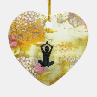 Ich erinnere mich zu meditieren keramik ornament