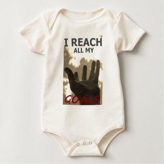 Ich erreiche alle meine Ziele Baby Strampler