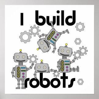 Ich errichte Roboter Poster