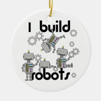 Ich errichte Roboter Rundes Keramik Ornament