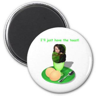 Ich esse gerade den Toast - runden Magneten Runder Magnet 5,1 Cm