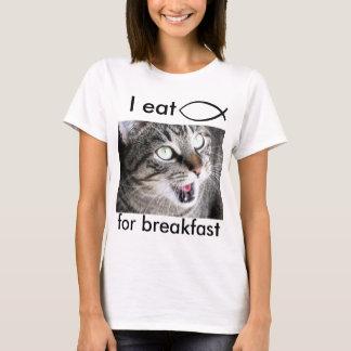 Ich esse Jesus-Fische zum Frühstück T-Shirt