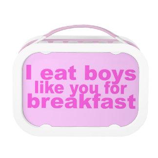 Ich esse Jungen Brotdose