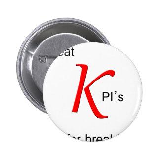 Ich esse KPIs zum Frühstück Runder Button 5,1 Cm