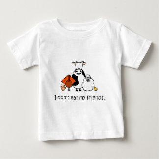 Ich esse nicht meine Freunde Baby T-shirt
