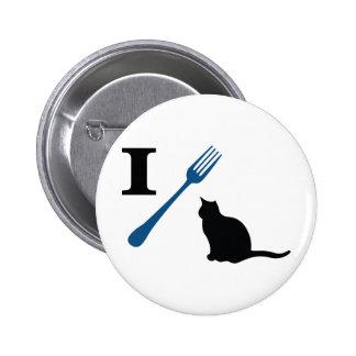 Ich esse Pussy-Katzen Runder Button 5,7 Cm