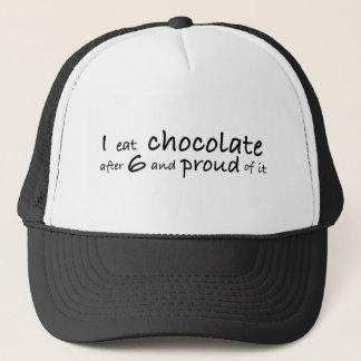 Ich esse Schokolade nach 6 und stolz auf sie Truckerkappe