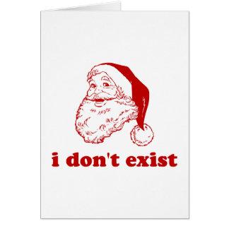 Ich existiere nicht grußkarte