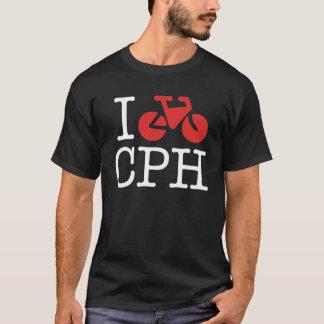 Ich fahre Kopenhagen-Dunkelheits-Shirt rad T-Shirt