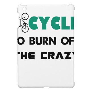 Ich fahre rad, um das verrückte, Fahrrad iPad Mini Hülle