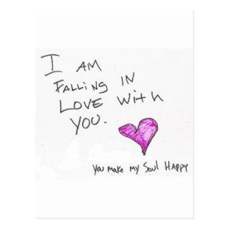 ich falle in LIEBE mit IHNEN Herz SOUL Postkarte