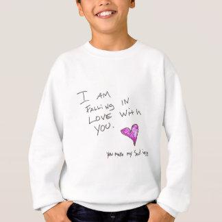 ich falle in LIEBE mit IHNEN Herz SOUL Sweatshirt