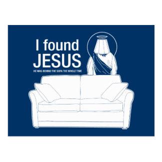 ich fand Jesus, den er hinter dem Sofa der ganze Postkarte