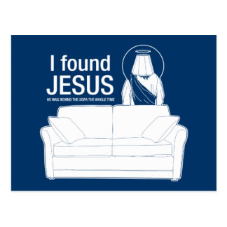 ich fand Jesus, den er hinter dem Sofa der ganze Postkarten