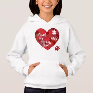 Ich fand mein vermisstes Stück - Puzzlespiel-Herz Hoodie