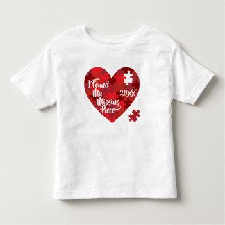 Ich fand mein vermisstes Stück - Puzzlespiel-Herz Kleinkind T-shirt