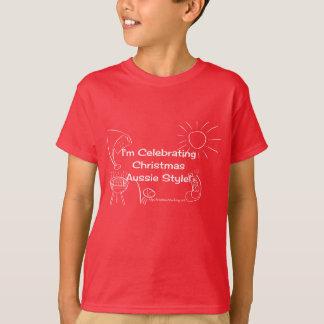 Ich feiere Weihnachtsaustralisches Artweiß T-Shirt