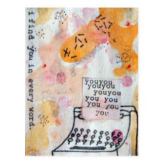 Ich finde Sie in jeder Wort-Postkarte Postkarte