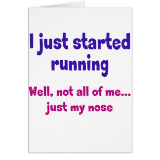 Ich fing gerade an zu laufen karte