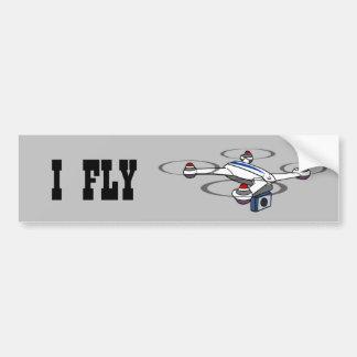ICH FLIEGE Drohne-Autoaufkleber Autoaufkleber