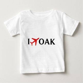 Ich fliege EICHE - internationalen Flughafen Baby T-shirt