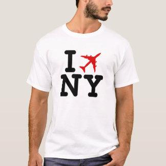 Ich fliege NY (i-Liebe NY) Flugzeug-T - Shirt