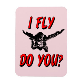 Ich fliege, tun Sie? (Schwarzes) Magnet