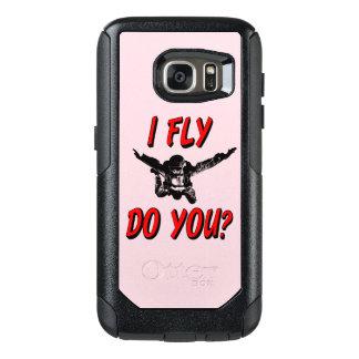 Ich fliege, tun Sie? (Schwarzes) OtterBox Samsung Galaxy S7 Hülle