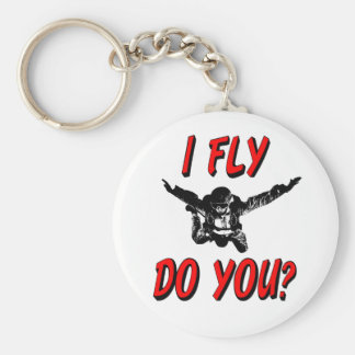 Ich fliege, tun Sie? (Schwarzes) Schlüsselanhänger