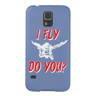 Ich fliege, tun Sie? (weiß) Galaxy S5 Cover