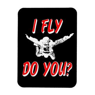 Ich fliege, tun Sie? (weiß) Magnet