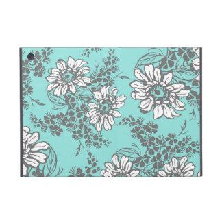 ich fülle Aqua-graues Blumenmuster auf iPad Mini Schutzhülle