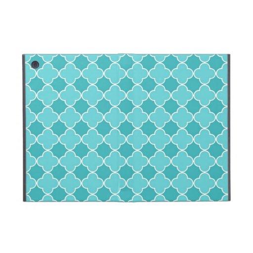 ich fülle aquamarines Quatrefoil Muster auf iPad Mini Hüllen