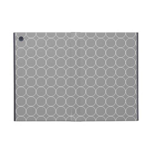 ich fülle graues Weiß-Kreis-Muster auf iPad Mini Schutzhülle