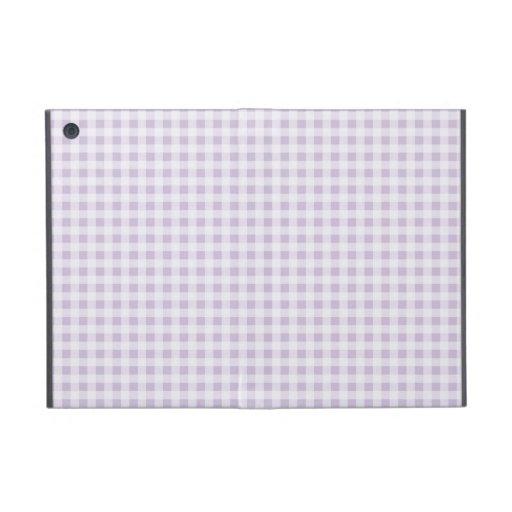 ich fülle lila Gingham-Muster auf iPad Mini Hüllen