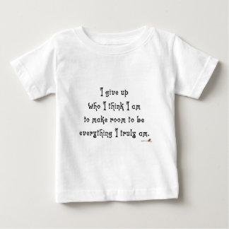 Ich gebe auf, wem ich denke, dass ich bin baby t-shirt