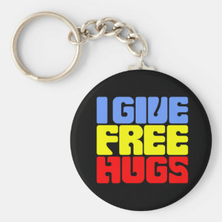 Ich gebe freie Umarmungen Schlüsselanhänger