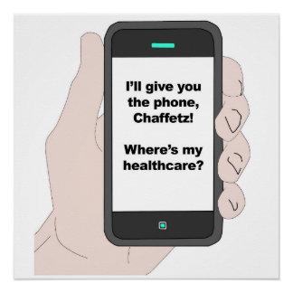 Ich gebe Ihnen das Telefon, wo bin mein Poster