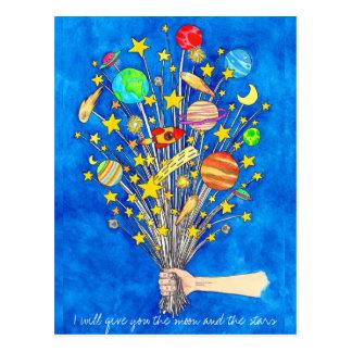 Ich gebe Ihnen den Mond und die Sterne Postkarte